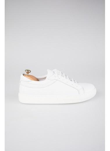 Tripy Hakiki Deri Ayakkabı Beyaz